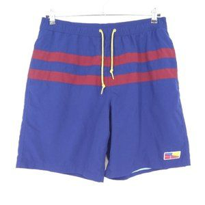 Five Four Ferry Blue/Red Mesh Lined Swim Trunks